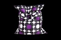 Schwarz-Violett - Sitzsack Nightflower