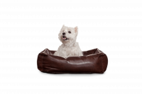 Dogbed Leather - Braun S