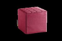 Bordeaux-Rot - Cube Sitzwürfel