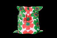 Sitzsack Floralia Outdoor - Grün-Rot