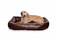 Dogbed Leather - Braun L