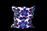 Sitzsack Floralia Outdoor - Blau-Purpur