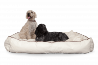 Dogbed Leather - Beige XXL