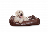 Dogbed Leather - Braun M