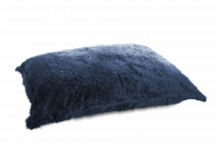 Schwarz-Blau - Sitzsack Flokati