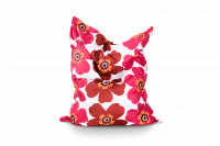 Sitzsack Floralia Outdoor - Braun-Rot